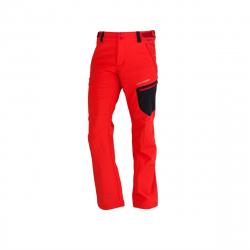 Pánske turistické softshellové nohavice NORTHFINDER-GINEMON-red