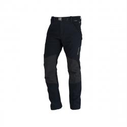 Pánske turistické softshellové nohavice NORTHFINDER-GORAN-black