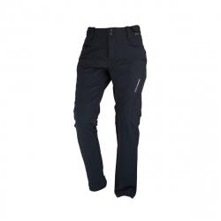 Pánske turistické softshellové nohavice NORTHFINDER-HASMEN-black