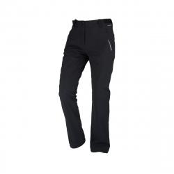 Dámske turistické softshellové nohavice NORTHFINDER-GERONYA-black