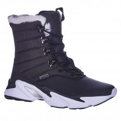Dámská zimní obuv vysoká ANTA-Lassa black / dk.grey / white