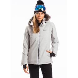 Dámska lyžiarska bunda FUNDANGO-MOKKA-170-stone