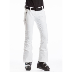 Dámske lyžiarske softshellové nohavice FUNDANGO-GALENA-100-white