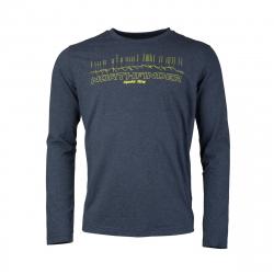 Pánske turistické tričko s dlhým rukávom NORTHFINDER-TATRA-navy