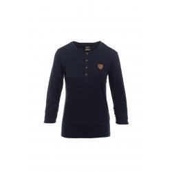 Dámske tričko s dlhým rukávom SAM73-Womens T-shirt s 3/4 sleeves-WT 787 240-dark blue