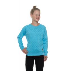 Dievčenská mikina SAM73-Girls sweatshirt-GM 515 219-neon blue