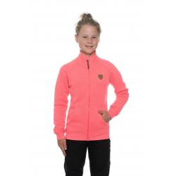 Dívčí mikina se zipem SAM73-Girls Sweatshirt-GM 516 118-neon pink