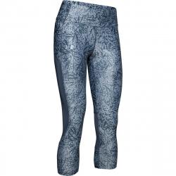 Dámské tréninkové 3/4 kalhoty UNDER ARMOUR-UA Speed Stride Printed Capri-GRY