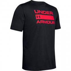 Pánské tréninkové triko s krátkým rukávem UNDER ARMOUR-UA TEAM ISSUE Wordmark SS-BLK-003