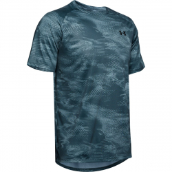 Pánské tréninkové triko s krátkým rukávem UNDER ARMOUR-UA Tech 2.0 SS Printed-GRY