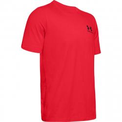 Pánske tréningové tričko s krátkym rukávom UNDER ARMOUR-UA Sportstyle LC Back Tee-RED