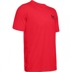 Pánské tréninkové triko s krátkým rukávem UNDER ARMOUR-UA Sportstyle LC Back Tee-RED