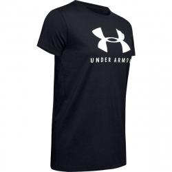 Dámské tréninkové tričko s krátkým rukávem UNDER ARMOUR-GRAPHIC SPORTSTYLE CLASSIC CREW-BLK