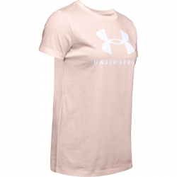 Dámské tréninkové tričko s krátkým rukávem UNDER ARMOUR-GRAPHIC SPORTSTYLE CLASSIC CREW-PNK