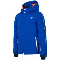 Chlapčenská lyžiarska bunda 4F-BOYS-SKI JACKETS-HJZ19-JKUMN002B-36S-COBALT