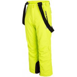 Chlapecké lyžařské kalhoty 4F-BOYS-SKI TROUSERS-HJZ19-JSPMN001A-45S-CANARY GREEN