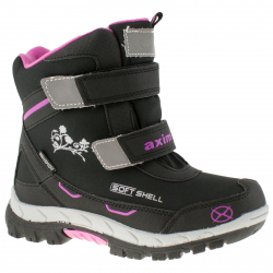 Detská zimná obuv stredná AXIM-Halse black