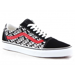 Rekreačná obuv VANS-Old Skool black/white/red