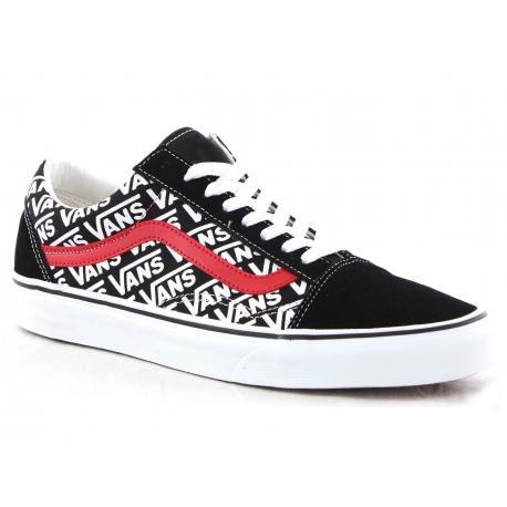 Rekreačná obuv VANS-Old Skool black/white/red