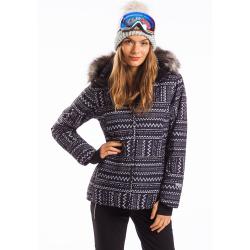 Dámska lyžiarska bunda FUNDANGO-MASSA FUR-893-raven