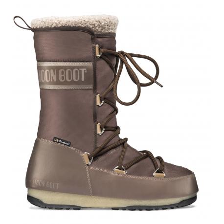 Dámská zimní obuv vysoká MOON BOOT-MBMONACOWOOL WP mud