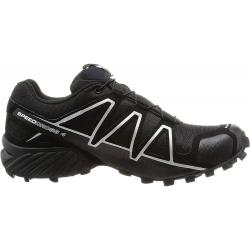 Pánská turistická obuv nízká SALOMON-SpeedCross 4 GTX Black / Black / SI