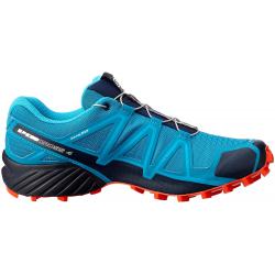 Pánska turistická obuv nízka SALOMON-SPEEDCROSS 4 Fjord Blue/Navy Blaze