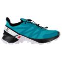 Dámska trailová obuv SALOMON-SUPERCROSS W Bluebird/Black/White -