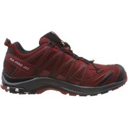 Pánská turistická obuv nízká SALOMON-XA PRO 3D GTX Syrah / Ebony / Rd Dahlia