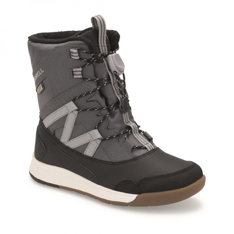 Juniorské zimné topánky vysoké MERRELL-SNOW CRUSH WTPF grey/black -