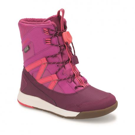 Juniorské zimné topánky vysoké MERRELL-SNOW CRUSH WTPF berry
