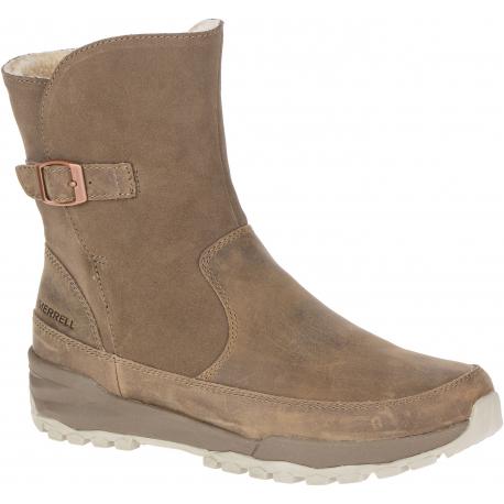 Dámská vycházková obuv MERRELL-icepack Guide Buckle Plr Wp stone