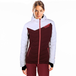 Dámská lyžařská bunda FUNDANGO-pumila-398-aubergine