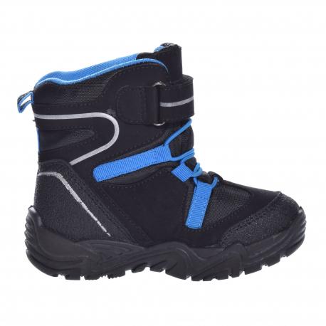 Dětská zimní obuv vysoká JUNIOR LEAGUE-151-122-93-black / blue