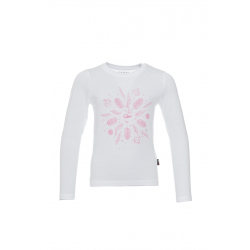 Dětské tričko s dlouhým rukávem SAM73-Girls T-shirt long sleeves-KTSP220000SM-000SM-white