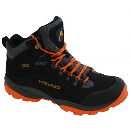 Pánska turistická obuv vysoká HEAD Kenya black/orange