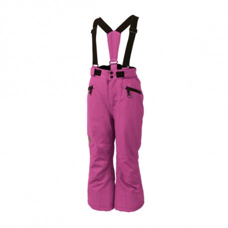 Detské lyžiarske nohavice COLOR KIDS-Sanglo padded ski pants-465-Super Pink