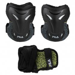 Chránič na korčule FILA SKATES-ADULT FP gears 3SET black/lime