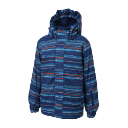 Chlapčenská lyžiarska bunda COLOR KIDS-Dartwin padded ski jacket AOP-188-Estate Blue