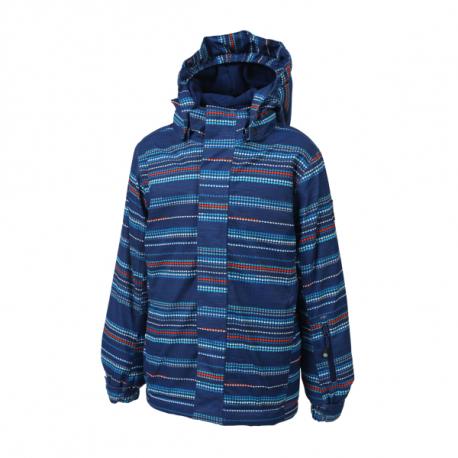 Chlapčenská lyžiarska bunda COLOR KIDS-Dartwin padded ski jacket AOP-188-Estate Blue
