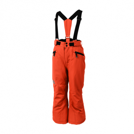 Detské lyžiarske nohavice COLOR KIDS-Sanglo padded ski pants-394-Scarlet Ibis