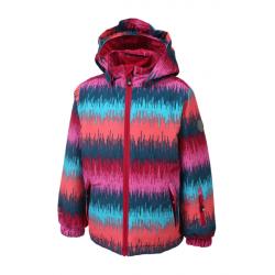 Detská lyžiarska bunda COLOR KIDS-Dikson padded ski jacket AOP-465-Super Pink