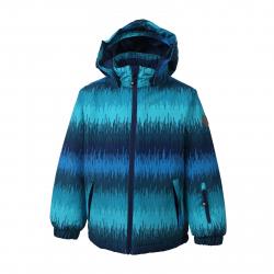 Detská lyžiarska bunda COLOR KIDS-Dikson padded ski jacket AOP-1101-Blue Aster