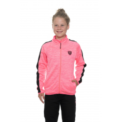 Dívčí mikina se zipem SAM73-Girls Sweatshirt-GM 517-118-neon pink