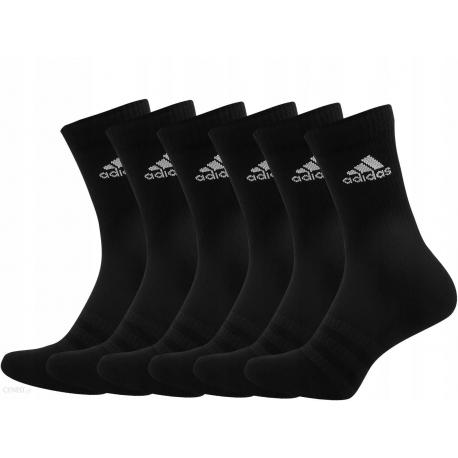 Ponožky ADIDAS-CUSH CRW 6PP BLACK/BLACK/BLACK/BL