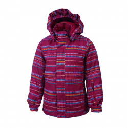 Dievčenská lyžiarska bunda COLOR KIDS-Donja padded ski jacket AOP-443-Raspberry