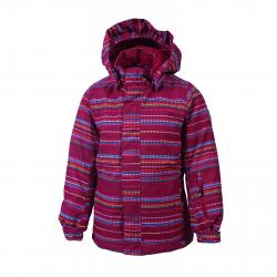 Dívčí lyžařská bunda COLOR KIDS-Donja padded ski jacket AOP-443-Raspberry