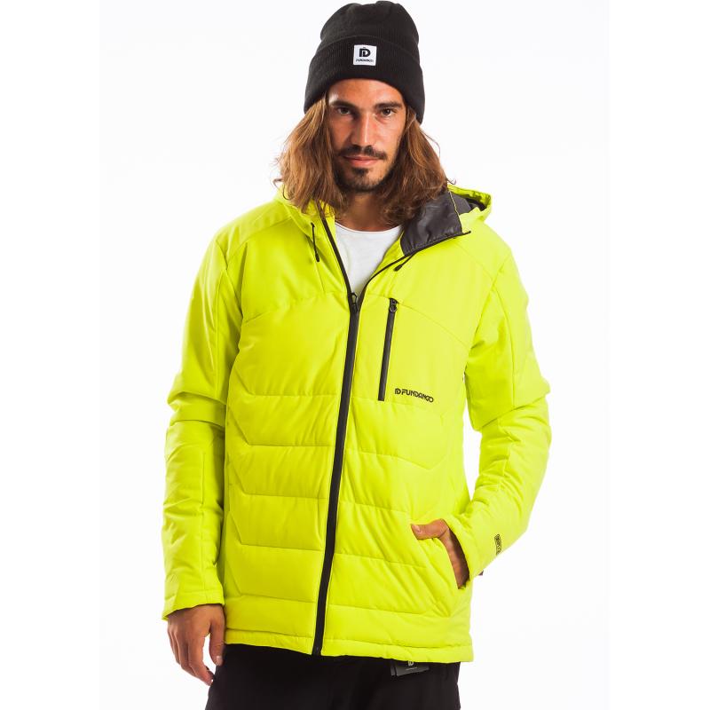 Pánská lyžařská bunda FUNDANGO-WILLOW-520-lime -