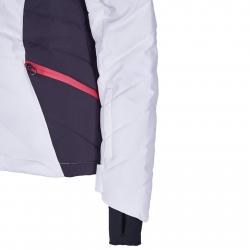 Dámska lyžiarska bunda BLIZZARD-Viva Ski Jacket Pinzolo, white/dark grey/pink