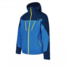 Pánska lyžiarska bunda BLIZZARD-Mens Ski Jacket Stelvio, bright blue/dark blue/neon green